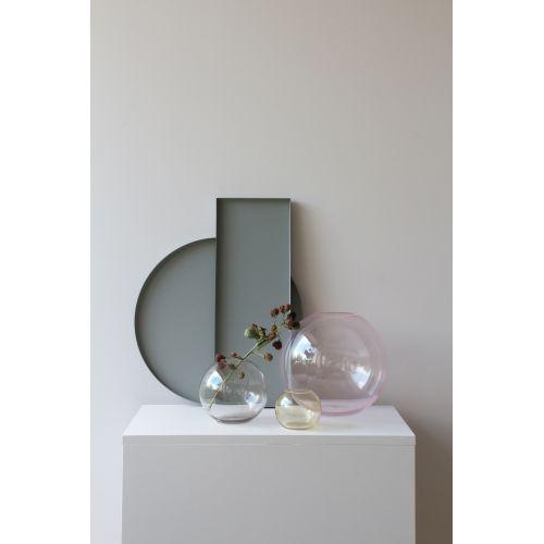 Kulatá skleněná váza Ball Glass Pink 15 cm