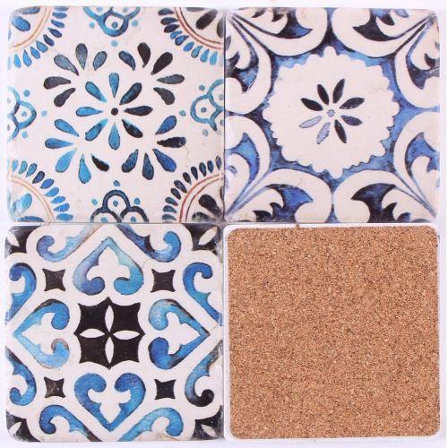 Cementové podložky pod hrnky Blue