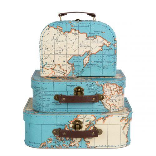 Kufřík Vintage Map - 3 velikosti