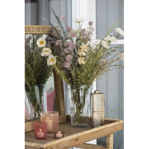 Skleněná váza Grooves Clear