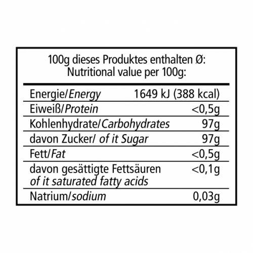Kandysový hnědý cukr Zázvor - 300gr