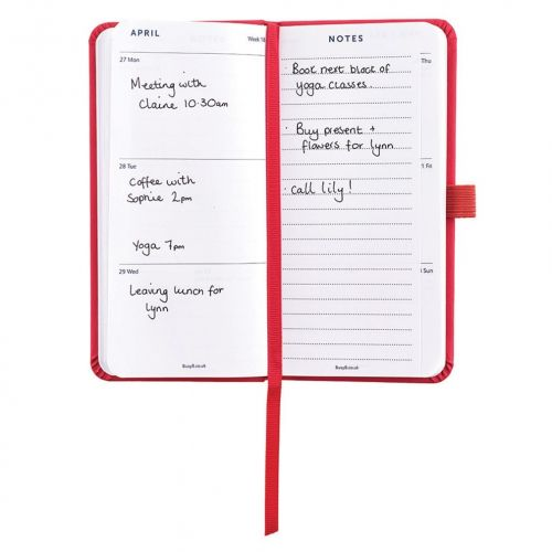 Plánovací diář Perfect Red Diary Slim 2020