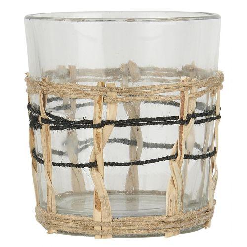 Skleněný svícínek Bamboo Braid