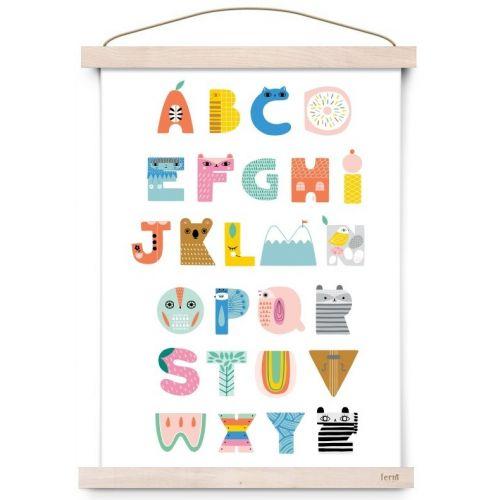 Dětský plakát ABC Shaped Characters