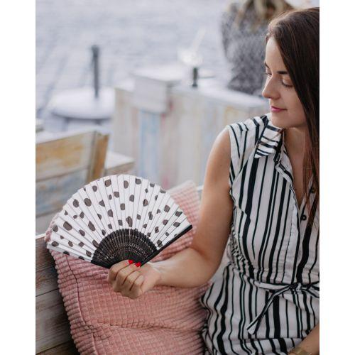 Trendy látkový vějíř Dalmatin