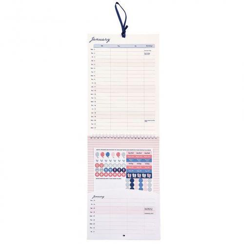 Nástěnný kalendář pro páry Breezy Blossoms 2020