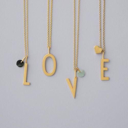 Pozlacený přívěsek Design Letters Heart