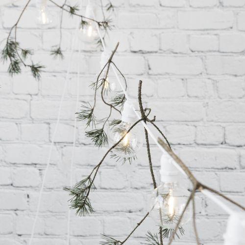 Světelný řetěz LED s 10ti žárovkami - white