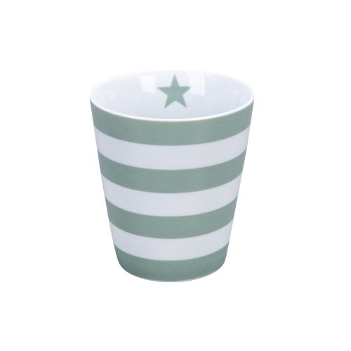 Latte hrneček Stripes Dusty Green