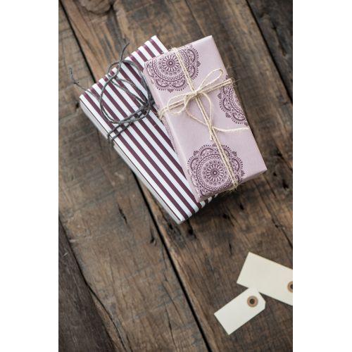 Balicí papír Burgundy Wide - 10m