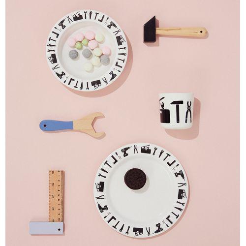 Set dětského melaminového nádobí Tool