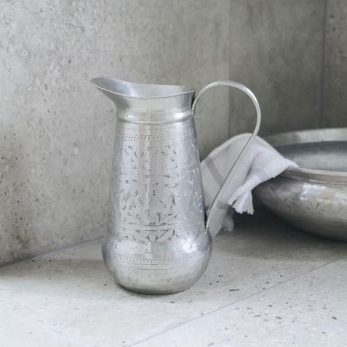 Hliníkový džbán do koupelny Althea Antique Silver