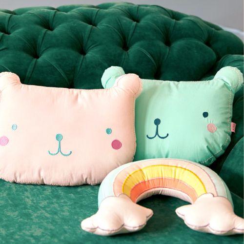 Dětský polštářek Teddy Soft Pink