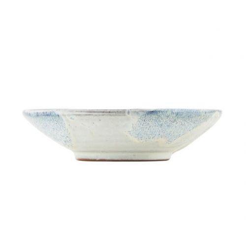 Nízká keramická miska Mio White/blue