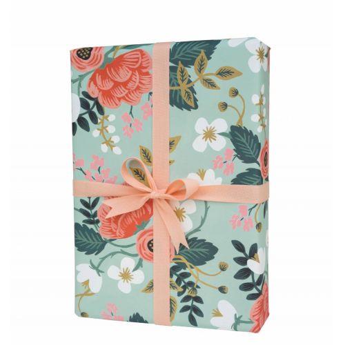 Balicí papír s květinami Birch - 3 listy