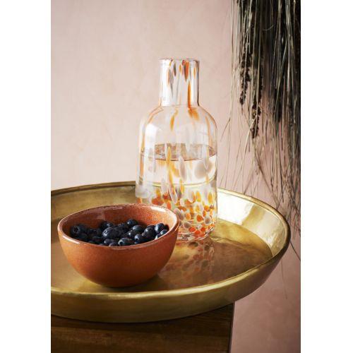 Skleněná váza Dotted Orange/Grey