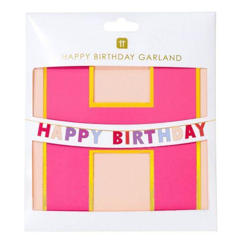 Papírová girlanda Rose Happy Birthday