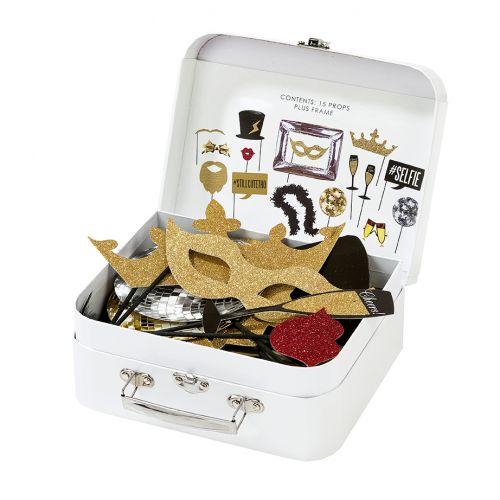 Rekvizity na focení v kufříku Glitter - set 15ks