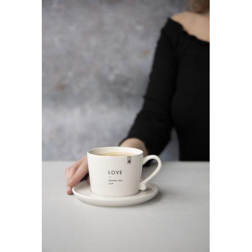 Keramický hrneček Love inside this cup 150 ml
