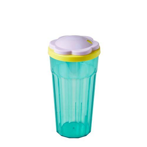 Plastová sklenice s víčkem Flower
