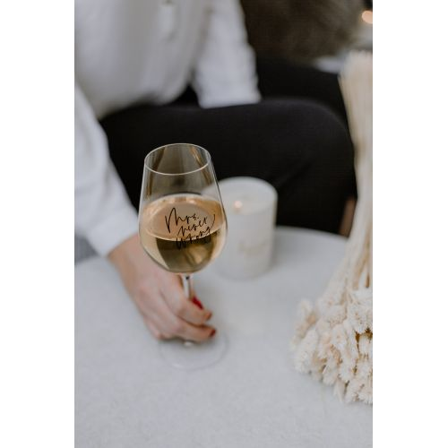 Sklenice na víno Mrs. Never wrong