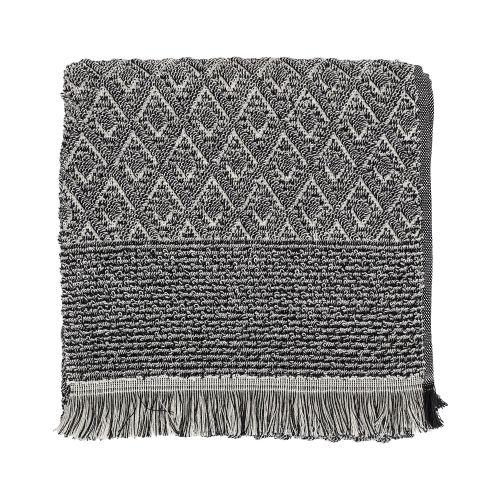 Froté ručník s třásněmi Black 100x50 cm