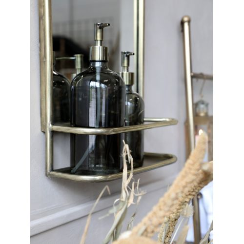 Zrcadlo s poličkou Antique Brass