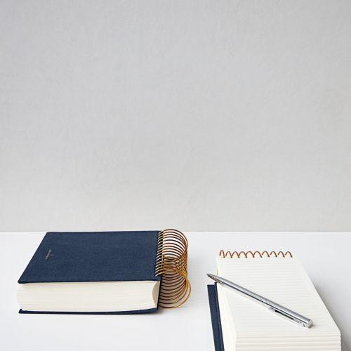 Poznámkový blok Spiral Blue 300 stran - úzký