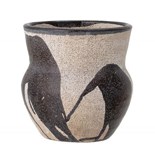 Terakotový obal na květináč Nala Black