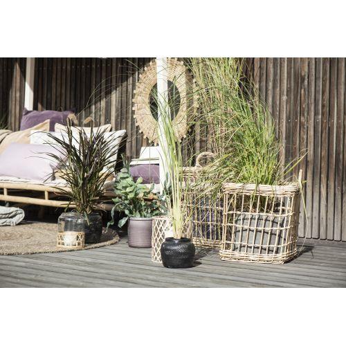 Skleněný poklop Bamboo Braid
