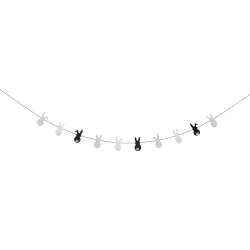 Velikonoční girlanda se zajíčky Black&White