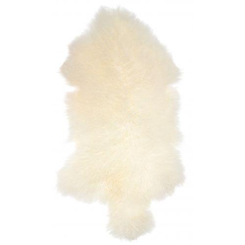 Tibetská ovčí kožešina Natural white