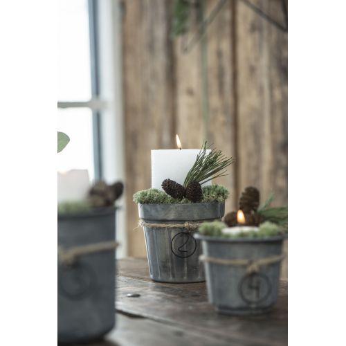 Kovový obal na květináček Pot Plain Grooves
