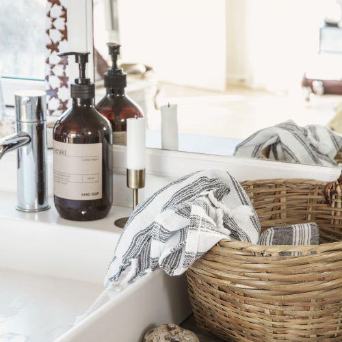 Bavlněný ručník Hammam White 90 x 45 cm
