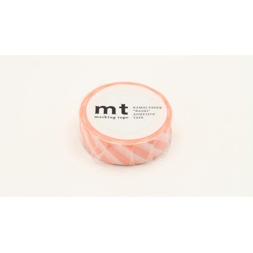 Japonská papírová páska Salmon Pink Stripe