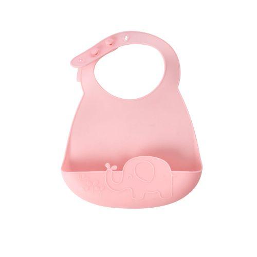 Dětský silikonový bryndák Pink/Blue