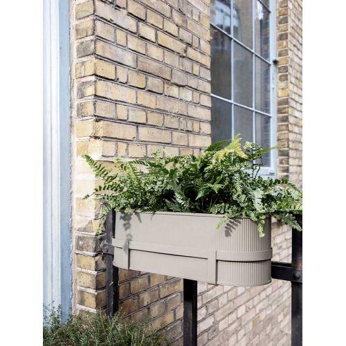 Kovový truhlík Bau Balcony Box Warm Grey