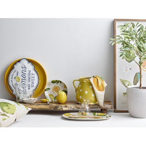 Keramická cukřenka se lžičkou Lemon Jar