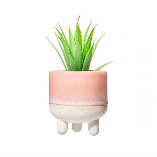 Keramický obal na květináč Mojave Glaze Pink Mini