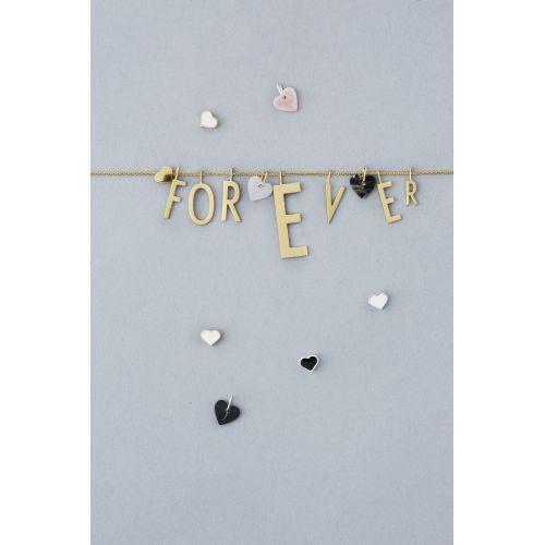 Pozlacený přívěsek Design Letters Black Heart