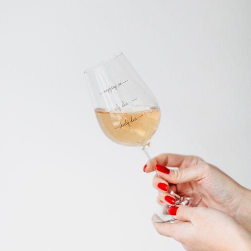 Sklenice na víno Nepýtaj sa!