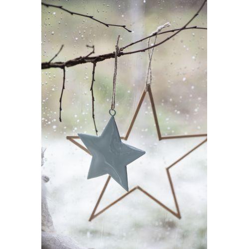 Dekorativní hvězdička Metal Green