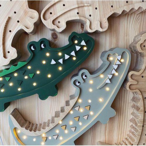 Dětská LED lampička Crocodile Green