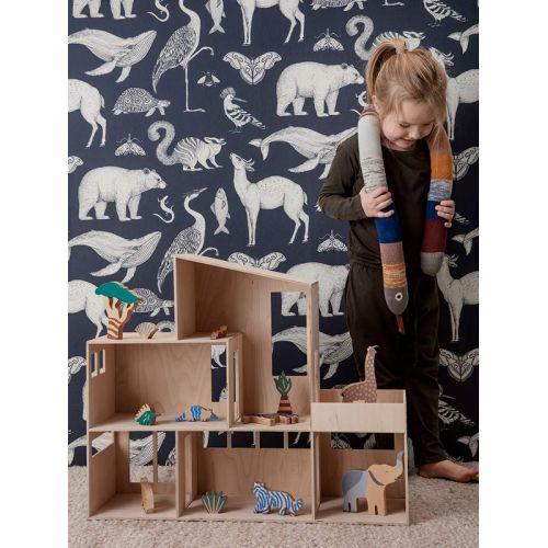 Dřevěná safari zvířátka Safari Animal Box