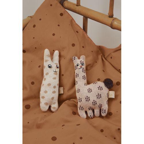 Dětské pletené chrastítko Baby Rabbit