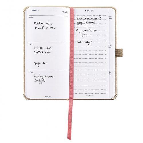 Plánovací diář Perfect Gold Diary Slim 2020