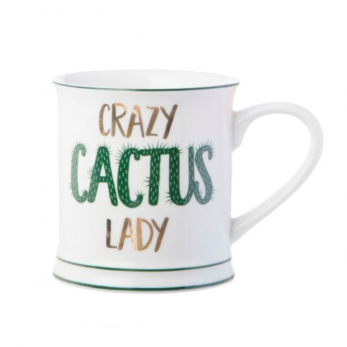 Porcelánový hrnek Crazy Cactus Lady