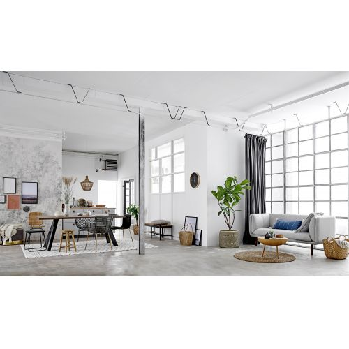 Bavlněný koberec Tuffing White Rug 300 x 200 cm