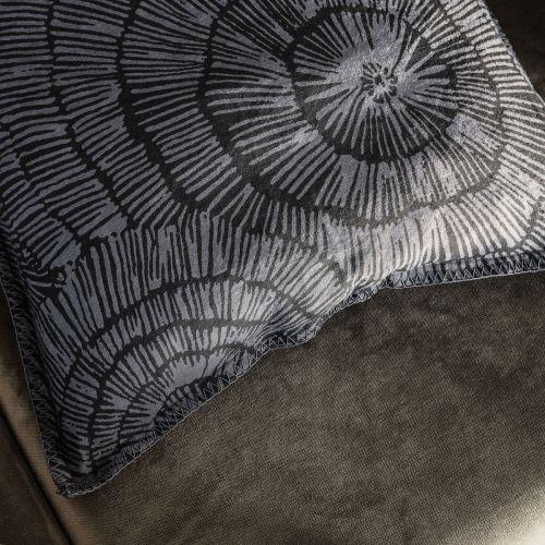 Lněný povlak na polštář Paper Dark grey 50x50 cm