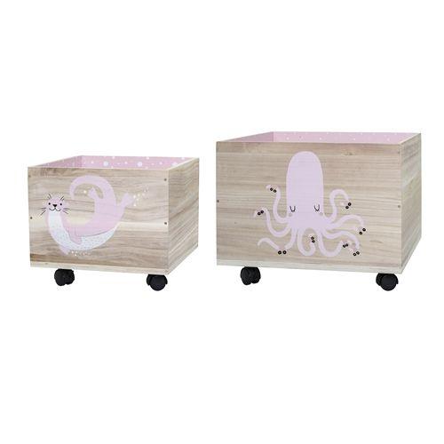 391b7ab38 Úložný box na kolieskach Otter/Octopus Rose | Bella Rose